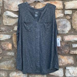 Sonoma gray sleeveless top 3X